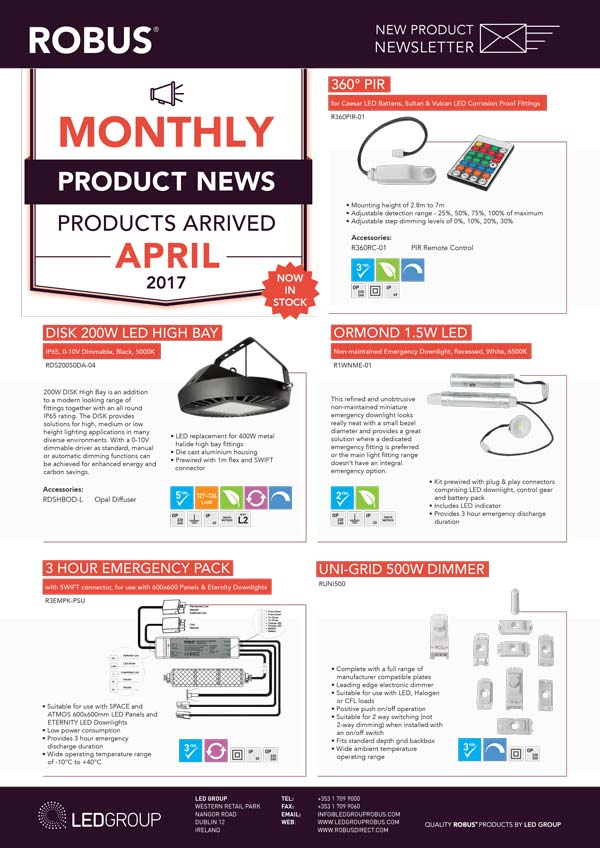 ROBUS Product News April 2017