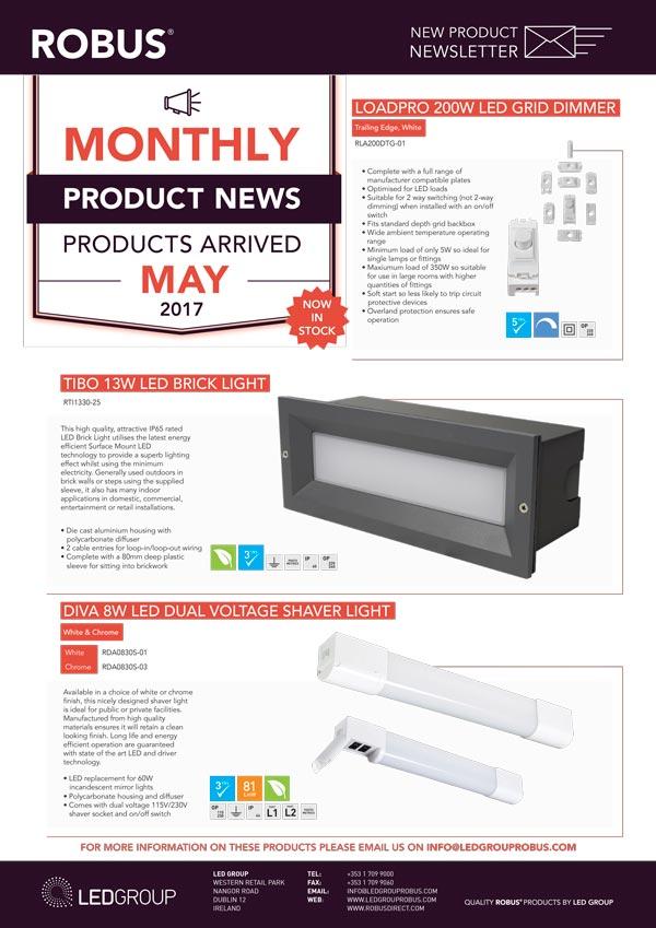 ROBUS Product News May 2017
